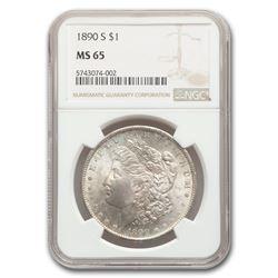 1890-S Morgan Dollar MS-65 NGC
