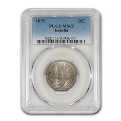 1893 Isabella Quarter Commemorative MS-65 PCGS