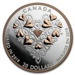 2019 Canada 1 oz Silver $20 Best Wishes on Your Wedding Day