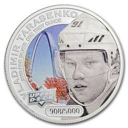 2017 Grandeur 1 oz Silver Hockey: Tarasenko (Colorized)