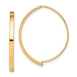 14k Dangle Threader Earrings - 28 mm