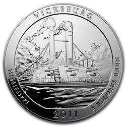 2011 5 oz Silver ATB Vicksburg National Military Park, MS