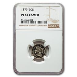 1879 Three Cent Nickel PF-67 Cameo NGC