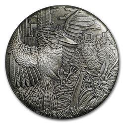 2018 Australia 2 oz Silver High Relief Kookaburra Prf (Antiqued)
