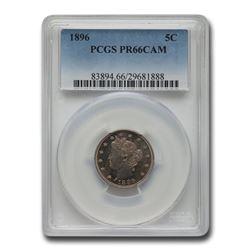 1896 Liberty Head V Nickel PR-66 Cameo PCGS
