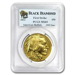 2013 1 oz Gold Buffalo MS-69 PCGS (FS, Black Diamond)