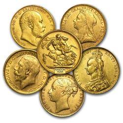 Great Britain Gold Sovereign Avg Circ (Random)