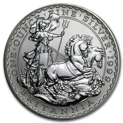 1999 Great Britain 1 oz Silver Britannia BU