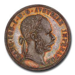 1892 Austria Silver 2 Florin Franz Joseph I MS-65+ PCGS