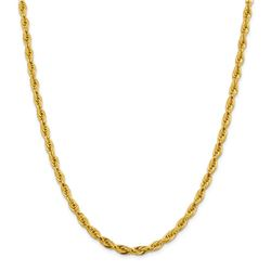 10k Yellow Gold 4.75 mm Semi-Solid Rope Chain - 22 in.