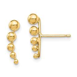 14k Graduated Ball Post Earrings - 32 mm