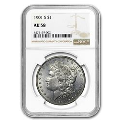 1901-S Morgan Dollar AU-58 NGC