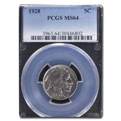 1928 Buffalo Nickel MS-64 PCGS