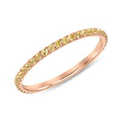 Natural 0.37 CTW Yellow Diamond Eternity Ring 14KT Rose Gold