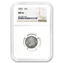 1835 Capped Bust Dime MS-61 NGC
