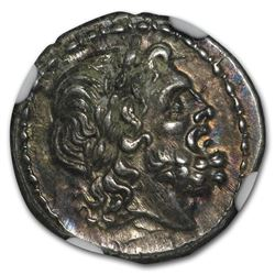 Roman Republic Silver Victoriatus (c. 211 BC) AU NGC Fine Style