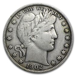 1902 Barber Half Dollar VF