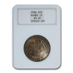 1936 Rhode Island Half Dollar MS-65 NGC