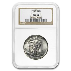 1947 Walking Liberty Half Dollar MS-67 NGC