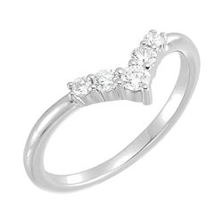 Natural 0.27 CTW Valentine Diamond Ring 14KT White Gold