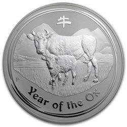 2009 Australia 1 kilo Silver Year of the Ox BU (Series II)