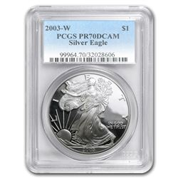 2003-W Proof Silver American Eagle PR-70 PCGS