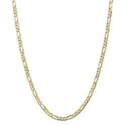 10k Yellow Gold 4.5 mm Light Concave Figaro Chain - 26 in.