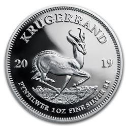 2019 South Africa 1 oz Silver Krugerrand Proof