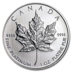 Canada 1 oz Platinum Maple Leaf BU (Random Year)