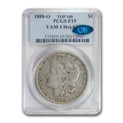 1888-O Morgan Dollar Fine-15 PCGS CAC (VAM 4 Hot Lips Top 100)