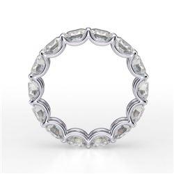 Natural 6.02 CTW Cushion Diamond Eternity Ring 14KT White Gold