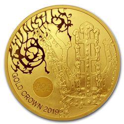 2019 South Korea 1 oz Gold Crown BU