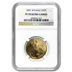 2001-W 1/2 oz Proof Gold American Eagle PF-70 NGC