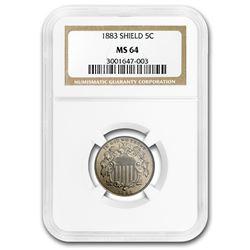 1883 Shield Nickel MS-64 NGC