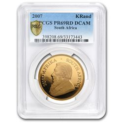 2007 South Africa 1 oz Gold Krugerrand PR-69 PCGS