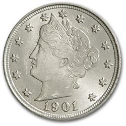 1901 Liberty Head V Nickel BU
