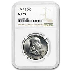 1949-S Franklin Half Dollar MS-63 NGC