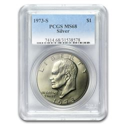 1973-S Silver Eisenhower Dollar MS-68 PCGS