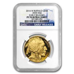 2014-W 1 oz Proof Gold Buffalo PF-70 NGC (ER)