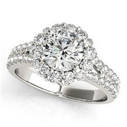 Natural 2.51 ctw Diamond Halo Ring 14k White Gold