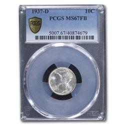 1937-D Mercury Dime MS-67 PCGS (FB)