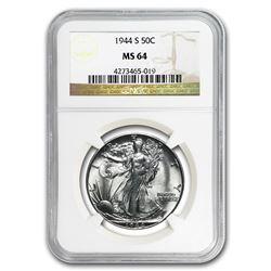 1944-S Walking Liberty Half Dollar MS-64 NGC
