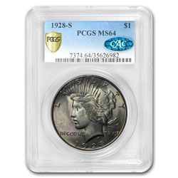 1928-S Peace Dollar MS-64 PCGS CAC