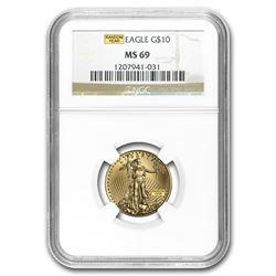 1/4 oz Gold American Eagle MS-69 NGC (Random Year)