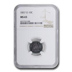 1857-O Liberty Seated Dime MS-65 NGC