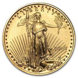 2005 1/10 oz Gold American Eagle BU