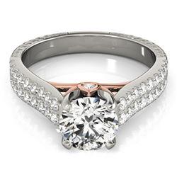 Natural 2.11 ctw Diamond Pave Ring 14k 2Tone Gold
