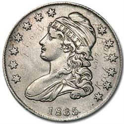 1835 Capped Bust Half Dollar XF (Details)