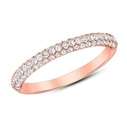 Natural 0.47 CTW Lucky Diamond Ring 18KT Rose Gold
