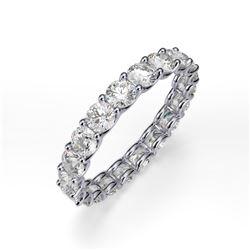 Natural 1.27 CTW Round Brilliant Diamond Eternity Ring 18KT White Gold